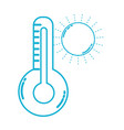 line thermometer measure instrument to know the vector image vector image