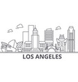 los angeles architecture line skyline vector image vector image