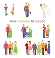 love story of old and young vector image