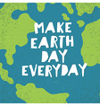 Make Earth day everyday poster Earth Day card vector image vector image