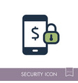 mobile banking icon safety concept for business vector image vector image
