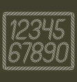 modern italic rounded digits funky numerals vector image