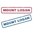 Mount Logan Rubber Stamps vector image vector image