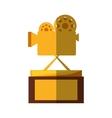 movie cinema trophy awards shadow vector image