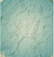 Old blue crumpled paper vector image vector image