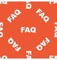 Orange FAQ pattern vector image vector image