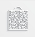 Ornamental paper bag vector image vector image