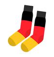 Patriot socks Germany Clothing accessory German vector image