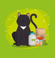 pet shop products set icons vector image