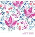 pink flowers horizontal frame seamless pattern vector image vector image