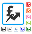 pound sales growth framed icon vector image vector image