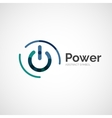 Power button logo design
