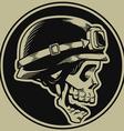 Retro Motorbike Skull Biker Badge vector image vector image