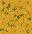 seamless pattern background with yellow tomatoes vector image vector image