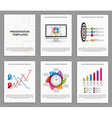 Set Infographics for business brochures and vector image