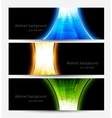 Set of abstract bright banners vector image vector image