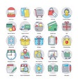 shopping and commerce colored icons vector image vector image