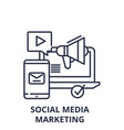 social media marketing line icon concept social vector image