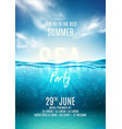 summer sea party poster template vector image vector image