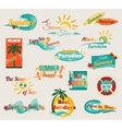 Summer typographical elements for design Retro vector image