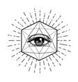 tattoo flash eye providence masonic symbol vector image vector image