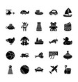 toys glyph icons vector image vector image