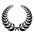 victory wreath icon simple style vector image