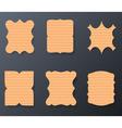 Vintage Cardboard Paper Labels Set vector image vector image
