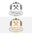 Vintage logo label badge and logotype elements vector image vector image