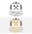 Vintage logo label badge and logotype elements vector image
