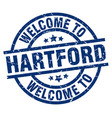 welcome to hartford blue stamp vector image vector image