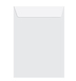 White closed envelope vector image vector image