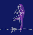 woman doing exercise in yoga pose vector image vector image