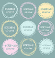 Set of bright hand-drawn scribble circles for your vector image