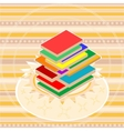 book stack vector image