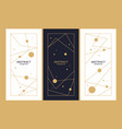 a set minimalistic postcards for text vector image vector image