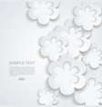 abstract background with white sticker flowers vector image
