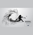 abstract silhouette of a baseball player batter vector image