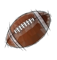 American Football isolated on a white background vector image vector image