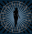 astrologic zodiac horoscope background vector image vector image