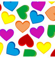 background from heart colour vector image