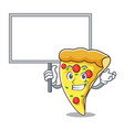 bring board pizza slice character cartoon vector image