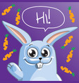 cartoon bunny hi vector image vector image