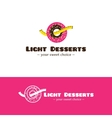 cartoon style fitness desserts logo Low vector image vector image