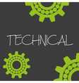 cogwheel technical machine design banner and vector image
