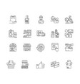 consumer service line icons signs set vector image vector image