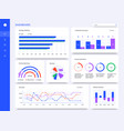 dashboard interface admin panel statistic vector image vector image