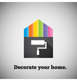 Decorate your home vector image