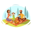 Family Having Picnic vector image