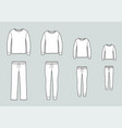 family pajamas suit jumper and pants leggings vector image